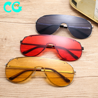 One-piece single lens sunglasses 2019 new personality unisex driving sunglasses