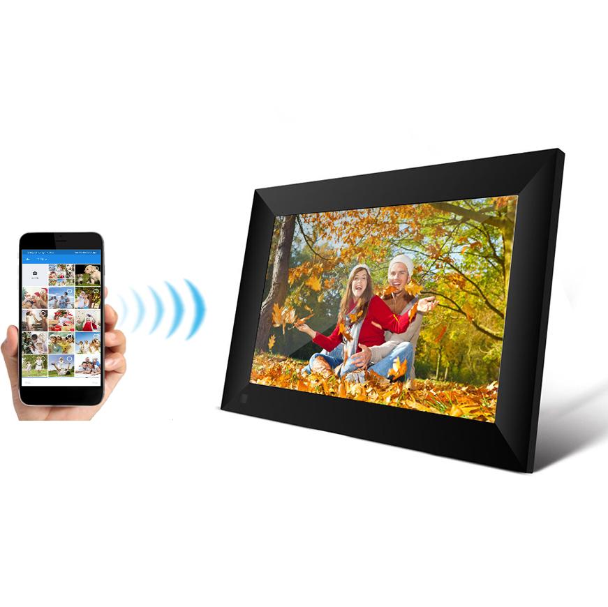 2020 IPS מסך מגע אנדרואיד wifi דיגיטלי תמונה מסגרת 10 אינץ ספרות ענן תמונה מסגרת ביקורת