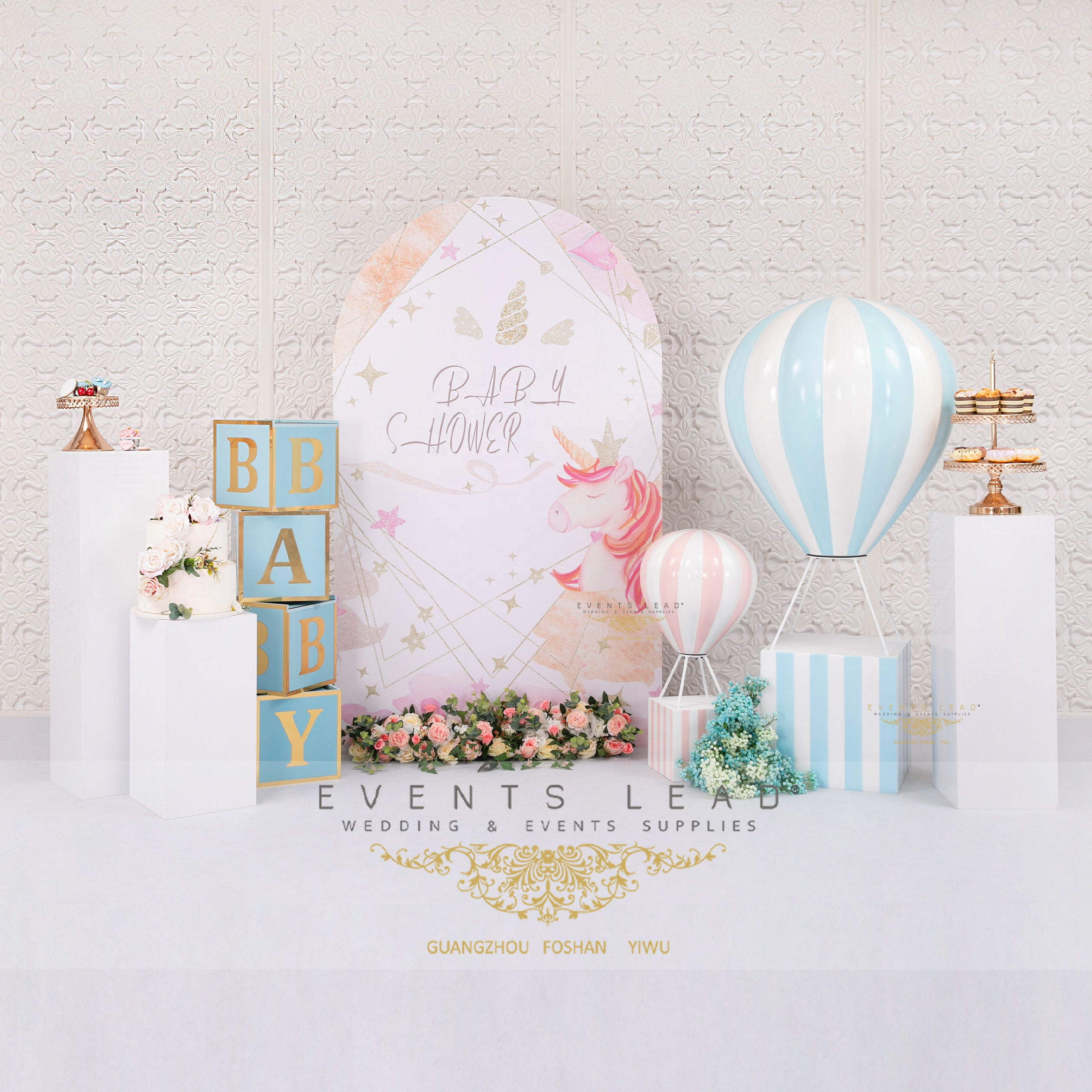 Latest Events Supplies Blue Cute Balloon IPPEIOS Collection Baby Shower