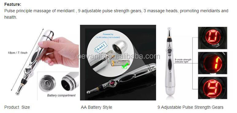 Home use pain relief Rechargeable massage acupoint meridian energy pen/acupuncture pen