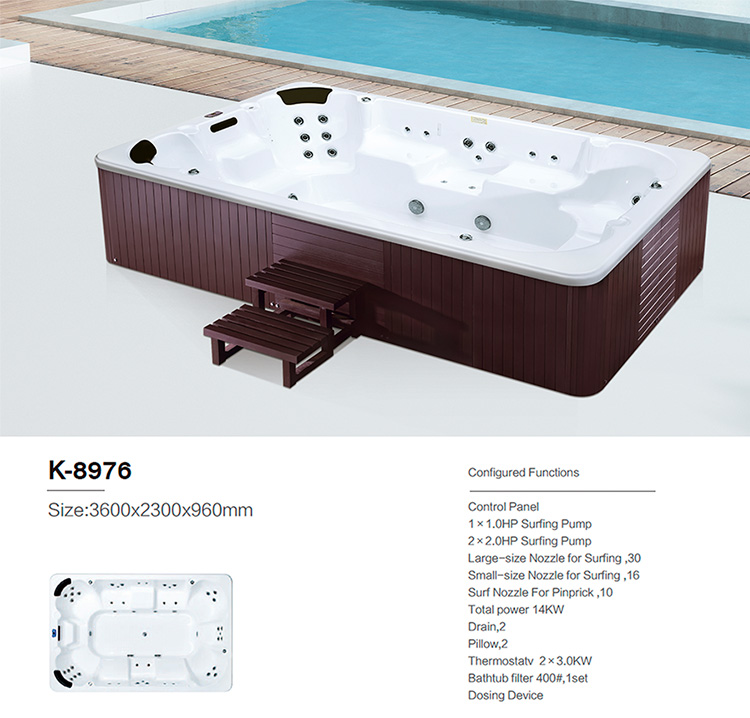 Hot sale 6 persons portable outdoor air jets hot tub offer massage Aquaspring spa