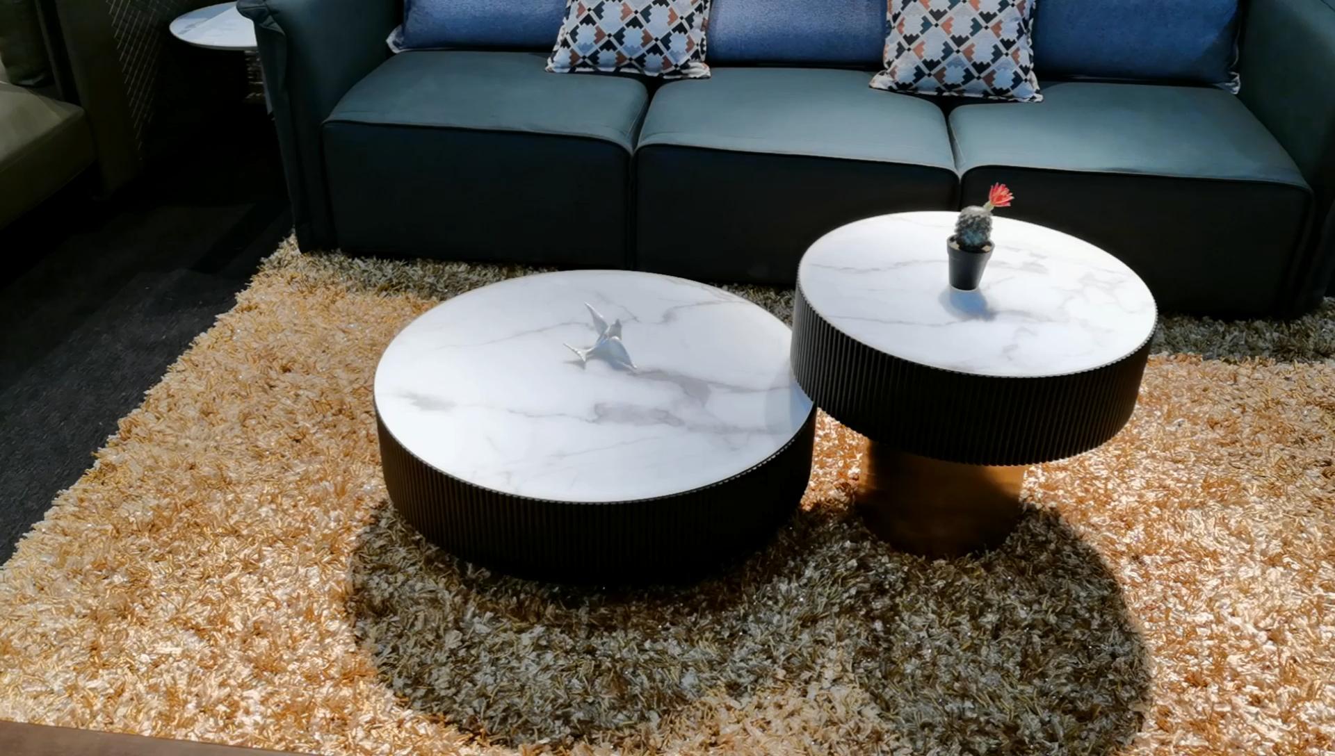 SK1905A nórdicos muebles para el hogar moderno Natural duradera mesa de café de madera