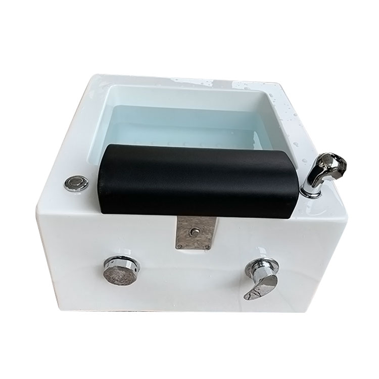 Glass fiber SPA square sink pedicure basin fiberglass pedicure bowl massage footbath foot tub
