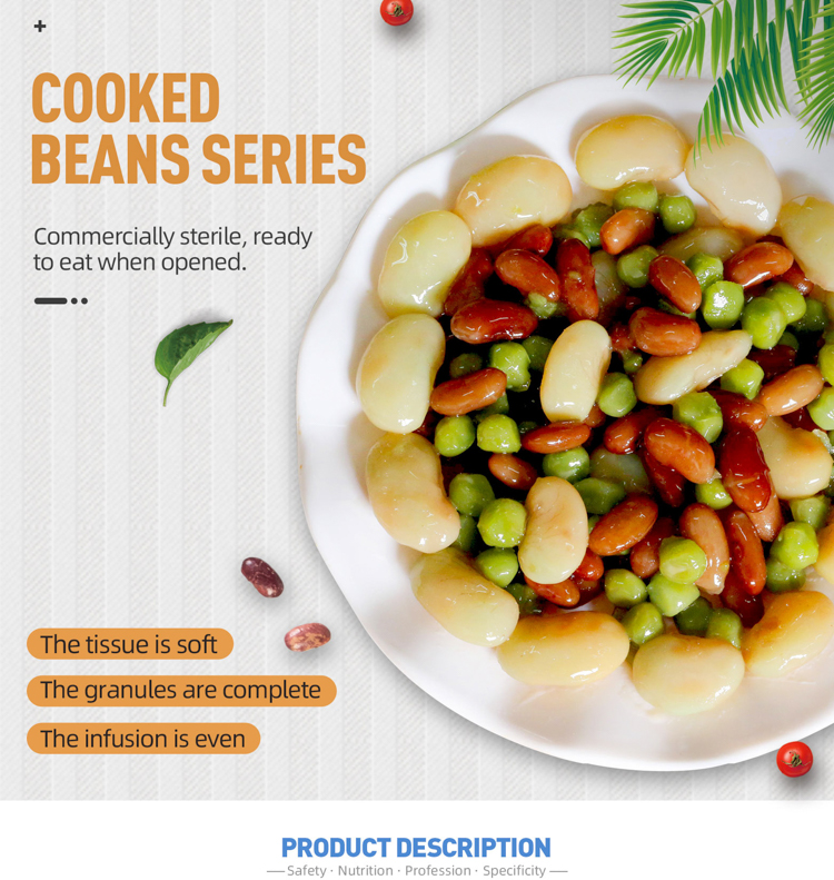 Delicious canned broad beans mixed beans snack