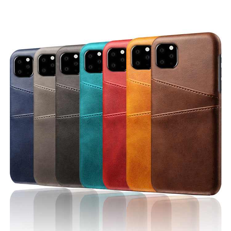 For iPhone 11 Pro Max Vintage Calf Pattern Card Slot Leather Phone Case For iPhone 11 Pro 2019 PU Wallet Back Cover Case