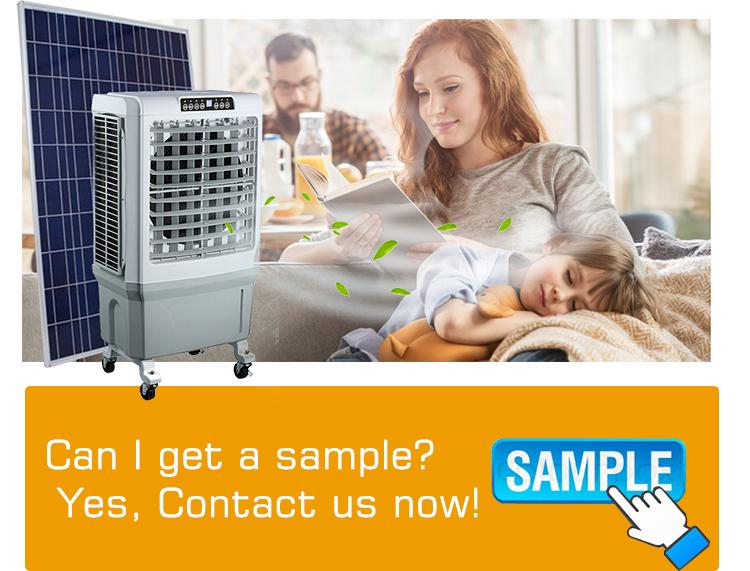 12 V Dc di Raffreddamento a Bassa Tensione Industriale Evaporativo Dispositivo di Raffreddamento 12 V Dc Pannello Solare Condizionatore D'aria Solare di Raffreddamento