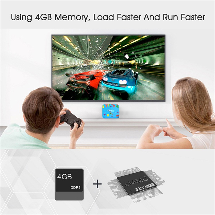 Latest Commercial Global children Favorite H96 mini H6 Allwinner H6 4GB 32GB 3D 6k android 9.0 Smart TV box