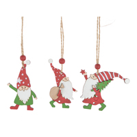 Top sellers in china Gnome Hanging Ornaments Swedish Tomte Party Favors Handmade Wooden Holiday Home Decor