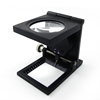 Double LED Lighting Glass Lens Black Spray Paint Magnifying Glass Zinc Alloy Carrier Pigeon Lighting Cloth Mirror