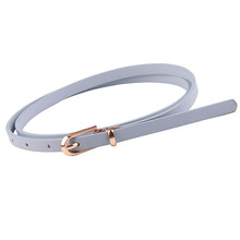 Button adjustment pure color dresses decorative belts fashion waist leather belt woman belt