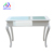 White Modern Cheap Spa Beauty Salon White Portable Nail Station Glass Top Manicure Table