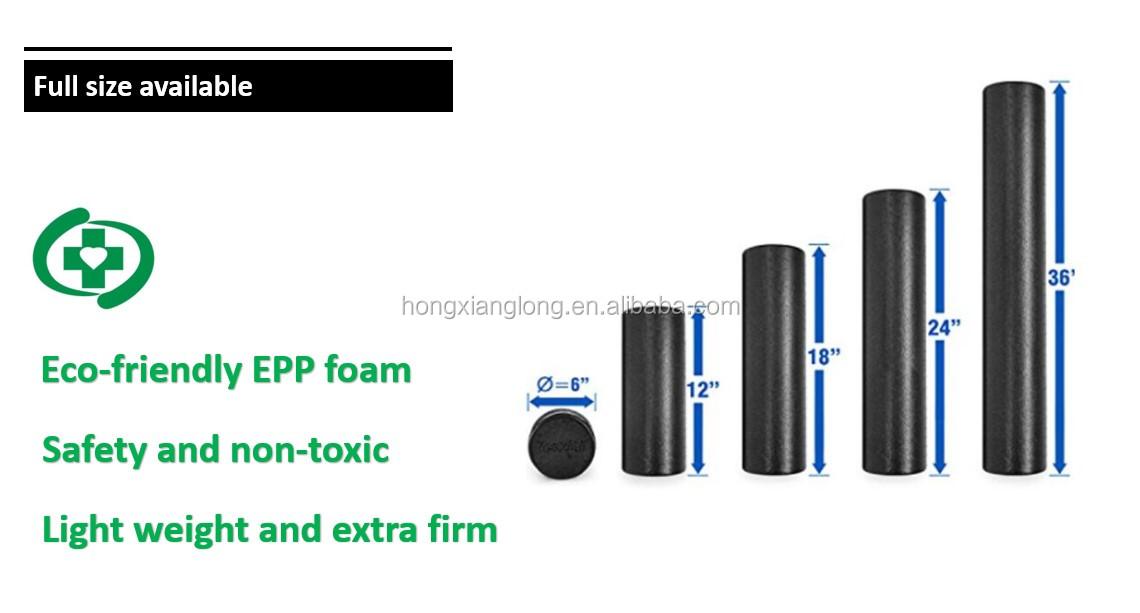 Индивидуальные высокой плотности фитнес EPP массаж пены ролик 90 см