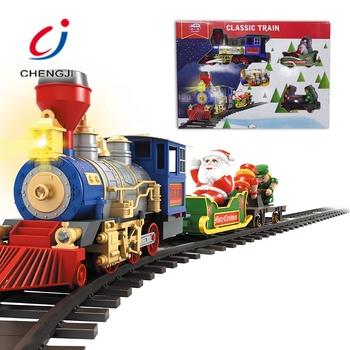 Classic small railway plastic Christmas gift mini toy train for kids