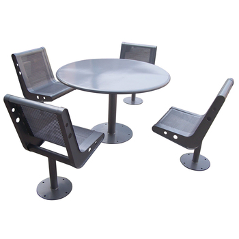 outdoor garden steel table chair