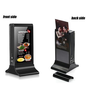 7 Inch LCD Touch Screen Android Restaurant Hotel Desktop Table Advertising Ad Player Restaurant Advertising Display