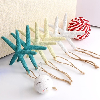 New Arrival Hotsale Customized White Finger Starfish For Coastal Christmas Tree Decor