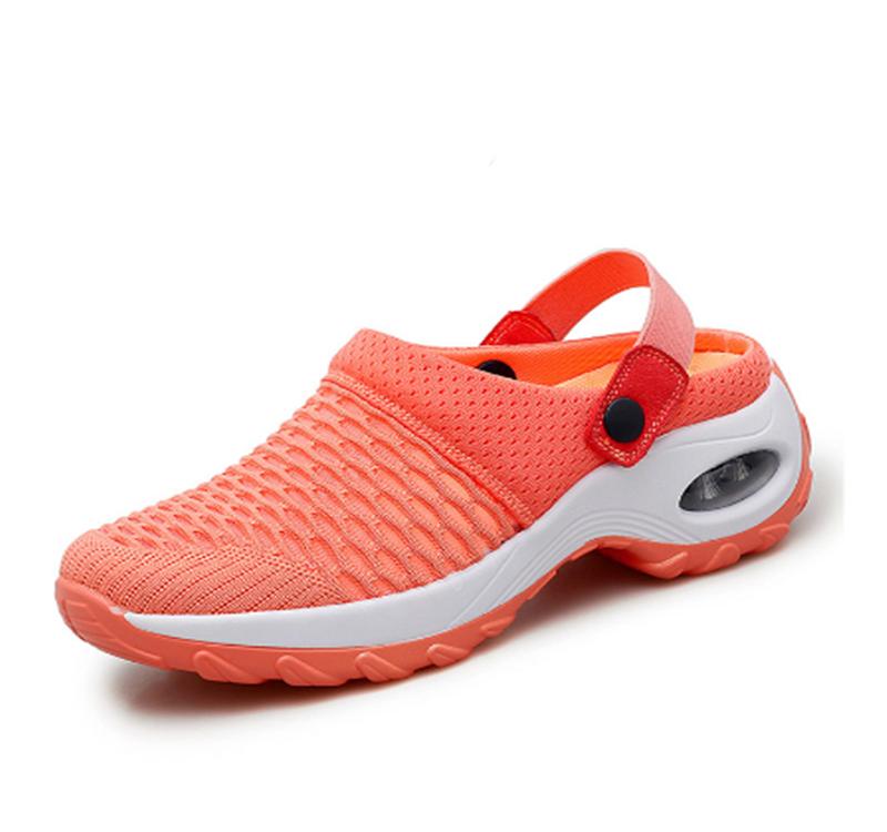 2020 새로운 여성 신발 캐주얼 증가 쿠션 샌들 비 슬립 플랫폼 샌들 통기성 메쉬 야외 산책 슬리퍼