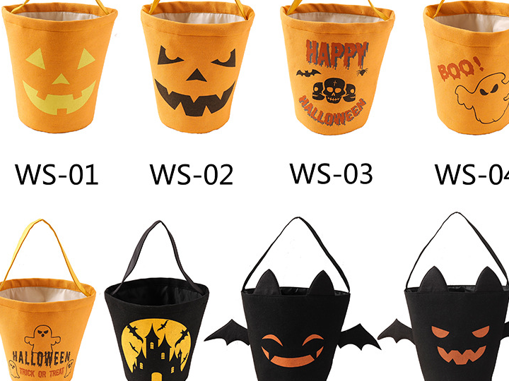 Grosir Baru 2020 Lucu Anak-anak Mainan Merasa Halloween Treat Trik Kelelawar Hitam Desain Anak-anak Tas Permen
