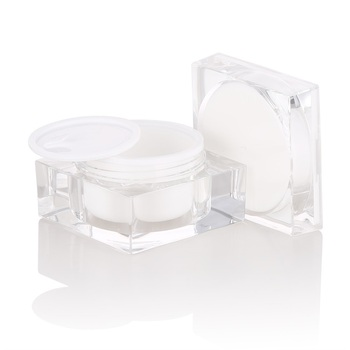 luxury cosmetic packaging 30g new design square acrylic cream jar