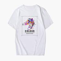 White 65 polyester 35 cotton t shirt short sleeve manches courtes hot sale slim fit mens costom tee polo promotional t shirt
