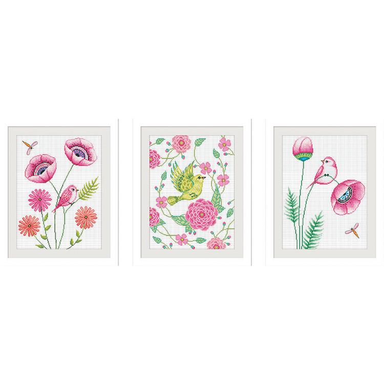 Çiçek bahar desen DIY nakış kiti sanat zanaat dikiş koleksiyon çapraz dikiş desenleri