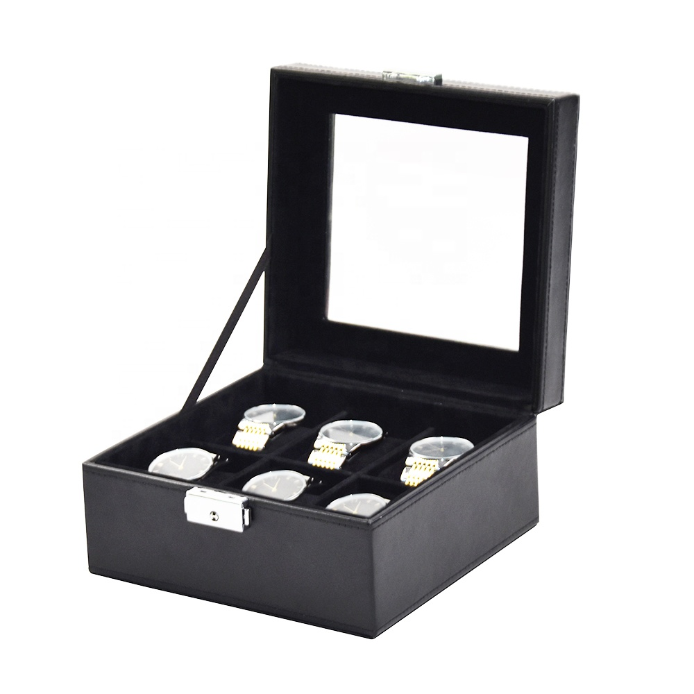 Luxury leather watch case travel watch case for men