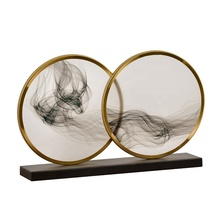 Chinese Stijl Acryl Cloud Ontwerp Metalen Staal Plated Gouden Kantoor Luxe <span class=keywords><strong>Interieur</strong></span> Woondecoratie Accessoires Woonkamer
