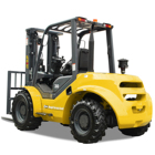 TOP QUALITY GS Brand 4 WD All Rough Terrain Forklift
