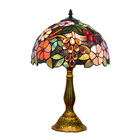 nordic antique luxury stained glass lampen shade colored vintage bedside night decoration light tiffany table lamp