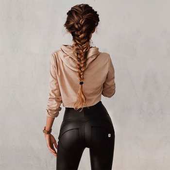 Melody OEM patent faux leather pants women high waisted faux leather pants womens black leather pants