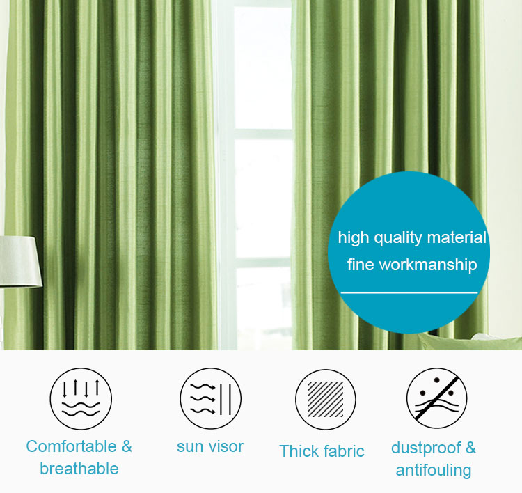 Woven ready made design washable blackout curtains for hotel
