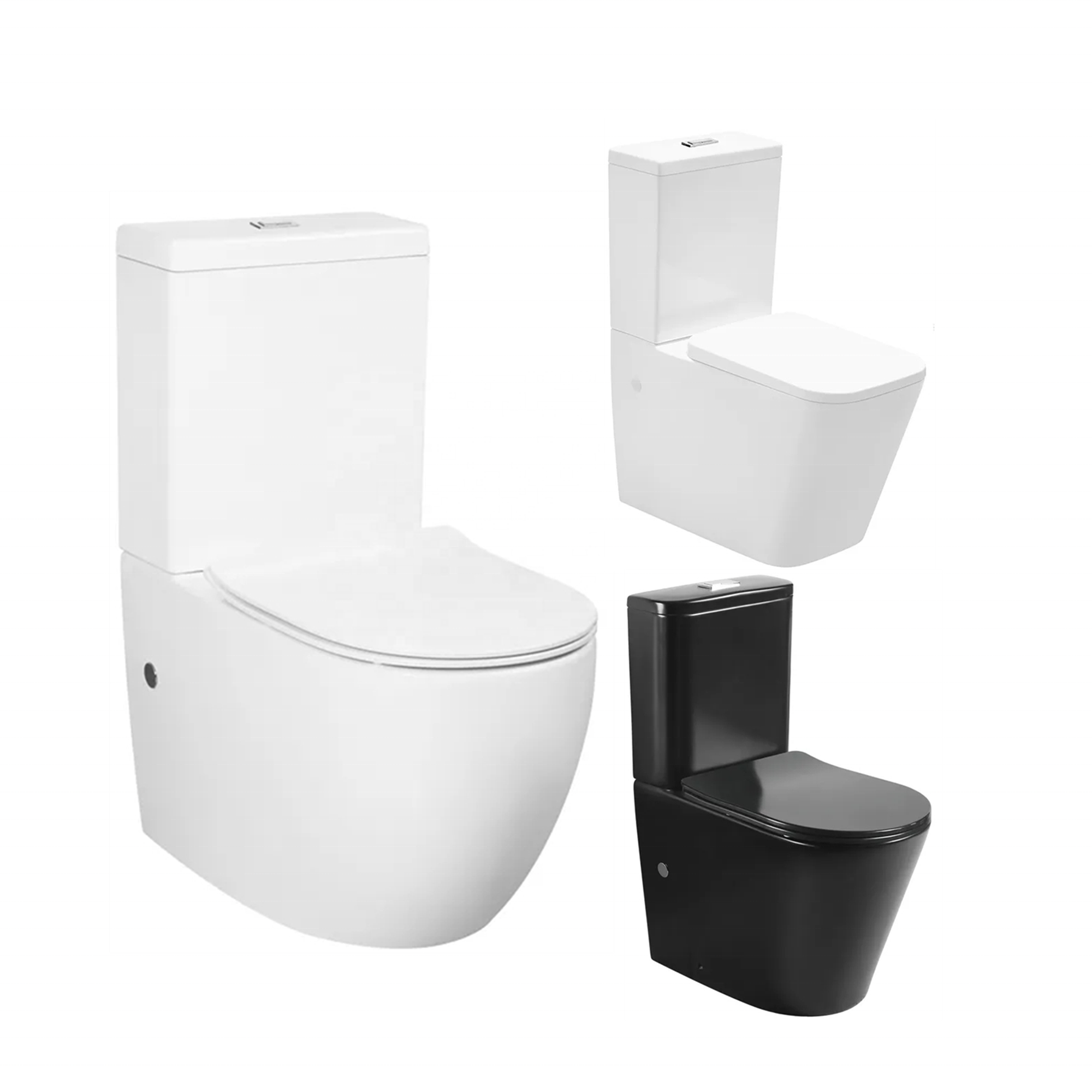 Chinese modern sanitary ware bathroom ceramic black wc piss two piece toilet set