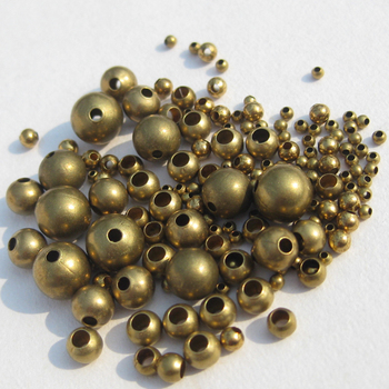 Different Sizes and shapes hot Sale flat metal raw brass beads for bracelets
