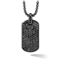Fashion Jewelry Black Charm Pendant Men Stainless Steel Necklace