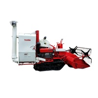 Hot selling muddy field mini rice combine harvester with barn in India