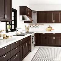 Adornus Customize Portable Modern Mobile Home Furniture Solid Wood Kitchen Cabinets from Mexico