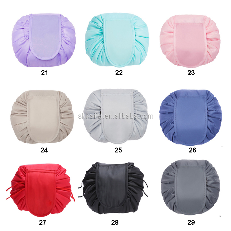 KAIFEI Cheap polyester round make-up bag cosmetic bag easy travel