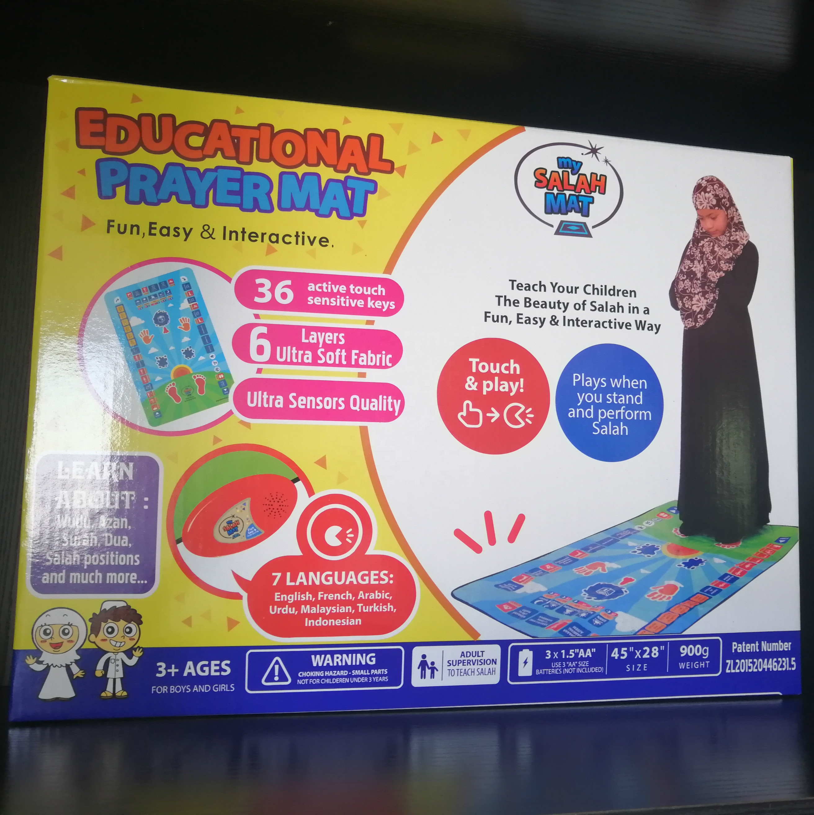 Prayer Use and 70x110 Size islam pray mat children prayer rug