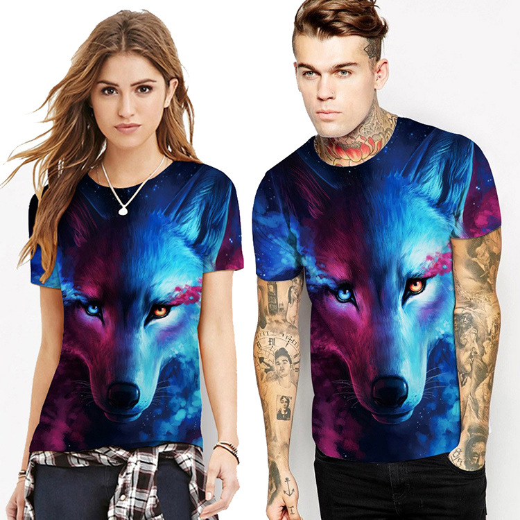 Dropshipping T Shirts Couples 3D Print Animal Cool Funny T Shirt