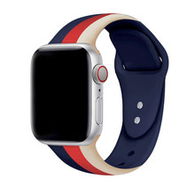 Спортивный ремешок JANSIN для Apple Watch series 4 3 2 1 силиконовый ремешок для iWatch Красочный мягкий Сменный адаптер AW 38 40 42 44 мм(Китай)