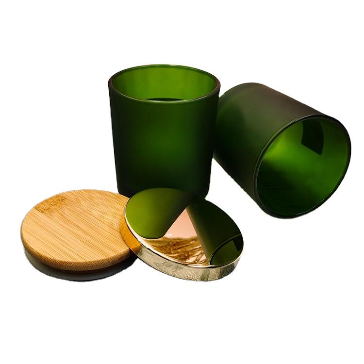 Vela copa de vela hecho a mano tarro de copa casero vela titular de tapa de metal tapa de madera
