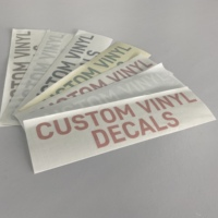 Waterproof die cut sticker,Multi-color customizable glass decals