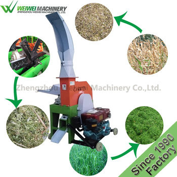 Weiwei capacity 1.5t/h agricultural  forage chopper chaff cutter farm equipment dairy grass cutter corn stalk crusher  machinery