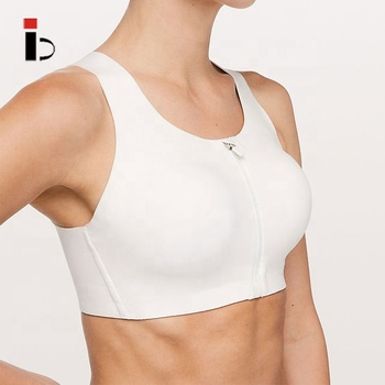 OEM Custom wholesale high quality rapid dry fit women white sports bra