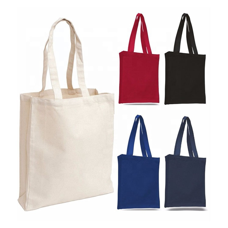 Cheap Printing Shopping Cotton Shoulder Zipper Messenger Organic Canvas Tote Bag