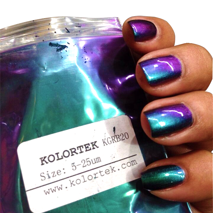 OEM/ODM Nail Decoration Loose/Press Chameleon Pigment Powder Gel Finger Nail Art