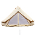 Outdoor camp safari bell tent with stove hole fire resistant fabric bell tent