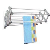 Hot Sale Retractable Wall Mounted Hanging Folding / Foldable Laundry / Clothes Drying Rack