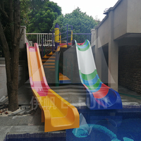 Private Swimming Pool Fiberglass Water Slides Water Play Equipment