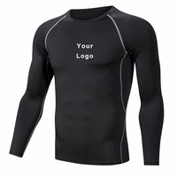 in stock training football athletic clothing men long sleeve quick-dry sportswear t shirt
